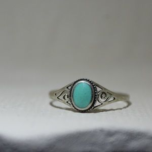 Sterling Silver Turquoise Antique ring (Size 10)